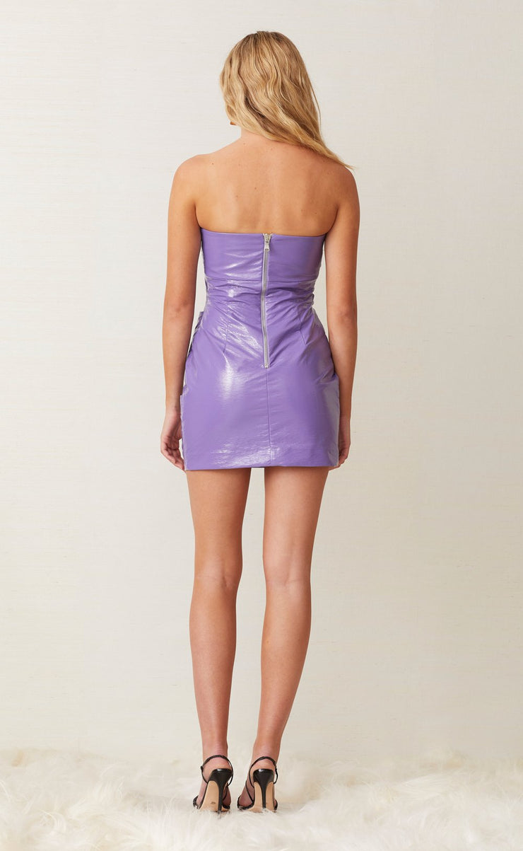 WAX ON MINI DRESS - PURPLE