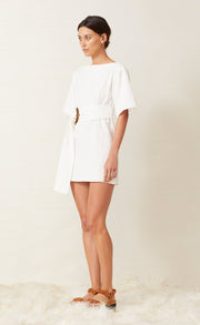 HARLOW MINI DRESS - IVORY