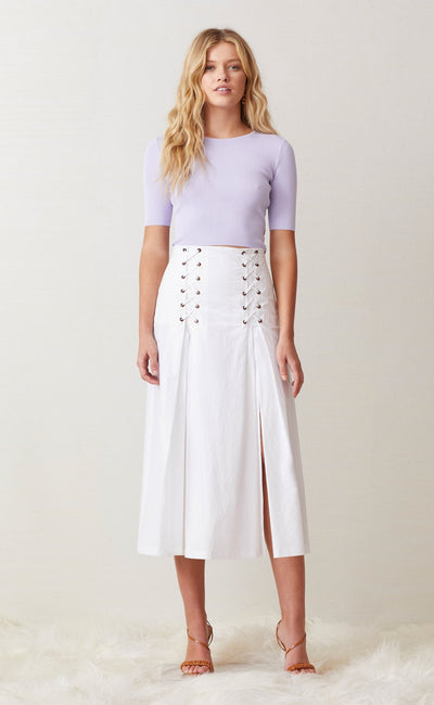 SURFARI MIDI SKIRT - WHITE