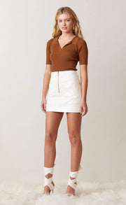 WAX ON MINI SKIRT - IVORY