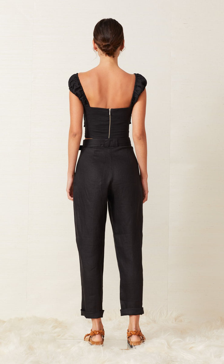 LEXI PANT WITH BELT - BLACK