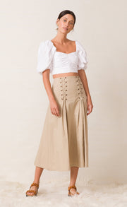 SURFARI MIDI SKIRT - SAFARI