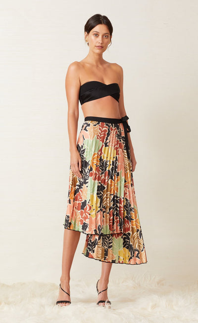 BABELINI PLEATED SKIRT - FLORAL