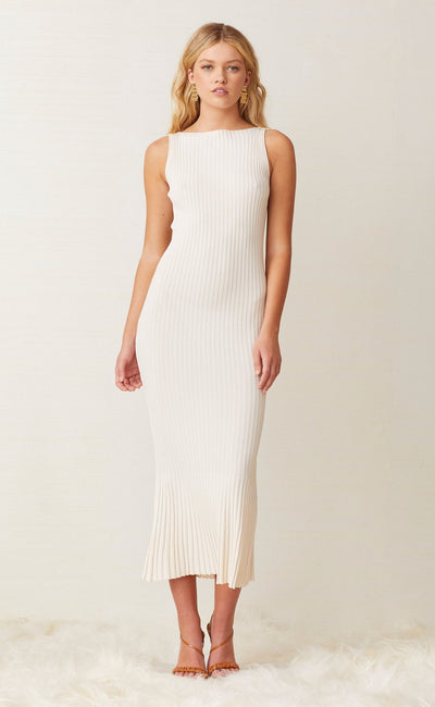 WHITE WATER MIDI DRESS - IVORY