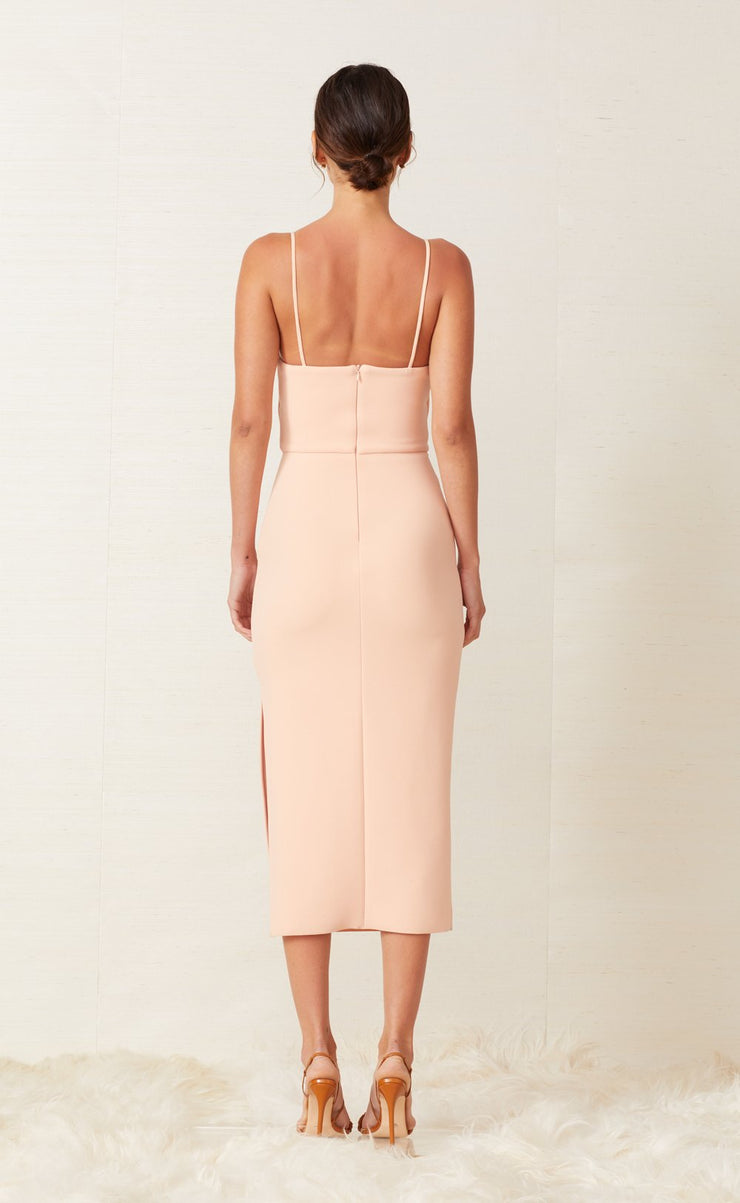 RUBY MIDI DRESS - PEACH