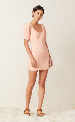 CORAL CLUB MINI DRESS - PEACH