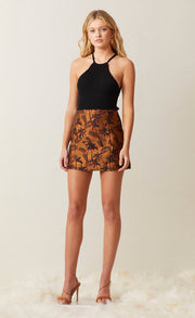 FAR OUT MINI SKIRT - RED PALM