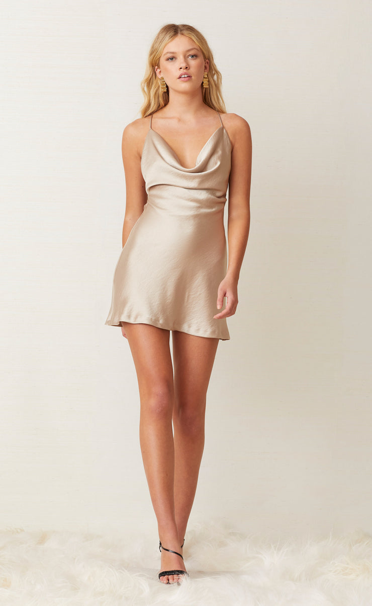 PEARL BAY MINI DRESS - NUDE