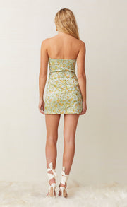 CALI CRUISIN' MINI DRESS - FLORAL JACQUARD