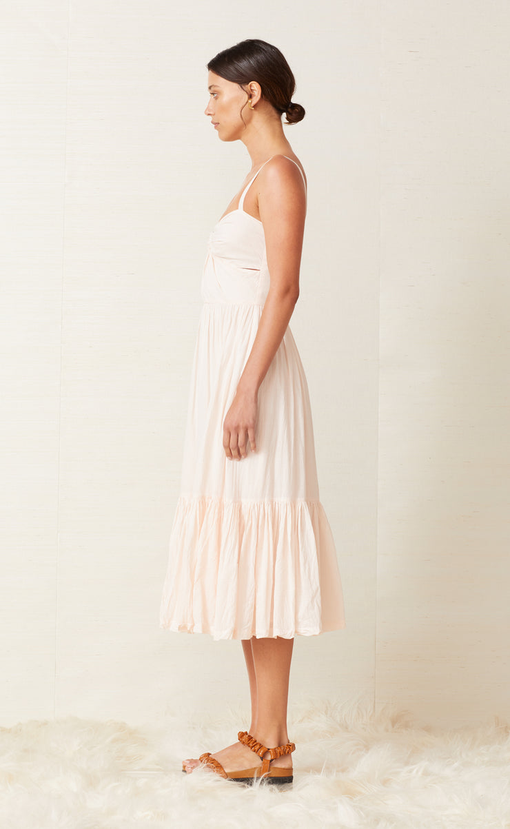 PUKA SHELL MIDI DRESS - SHELL PINK