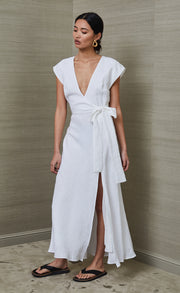 MARLA MIDI DRESS - WHITE