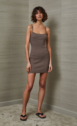 RIVIERA MINI DRESS - SILT