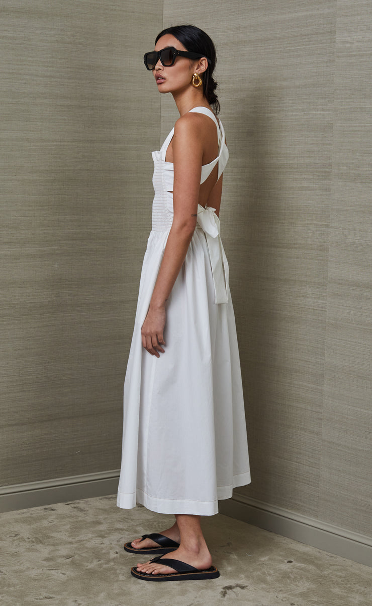 NIKOLINA MIDI DRESS - IVORY