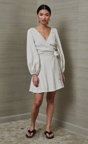 MARLOWE MINI DRESS - PUMICE