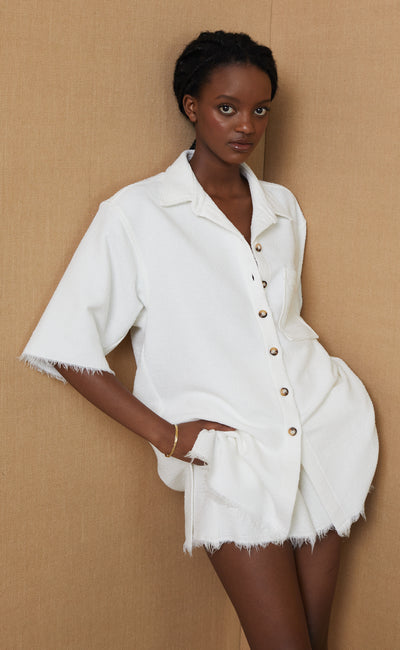 TERRY SHIRT - IVORY