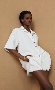TERRY SHORT - IVORY