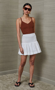NIKOLINA MINI SKIRT - IVORY