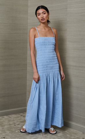 SKYE DREAMER MAXI DRESS - SKY BLUE