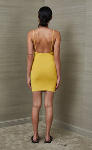 BOWIE MINI DRESS - MUSTARD