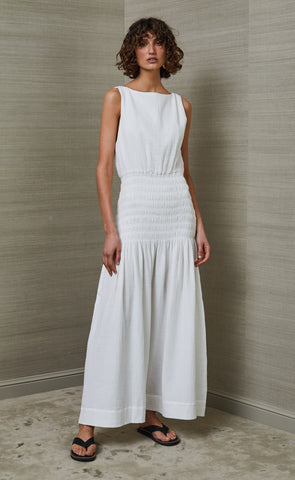 SKYE DREAMER HIGH NECK MAXI DRESS - IVORY