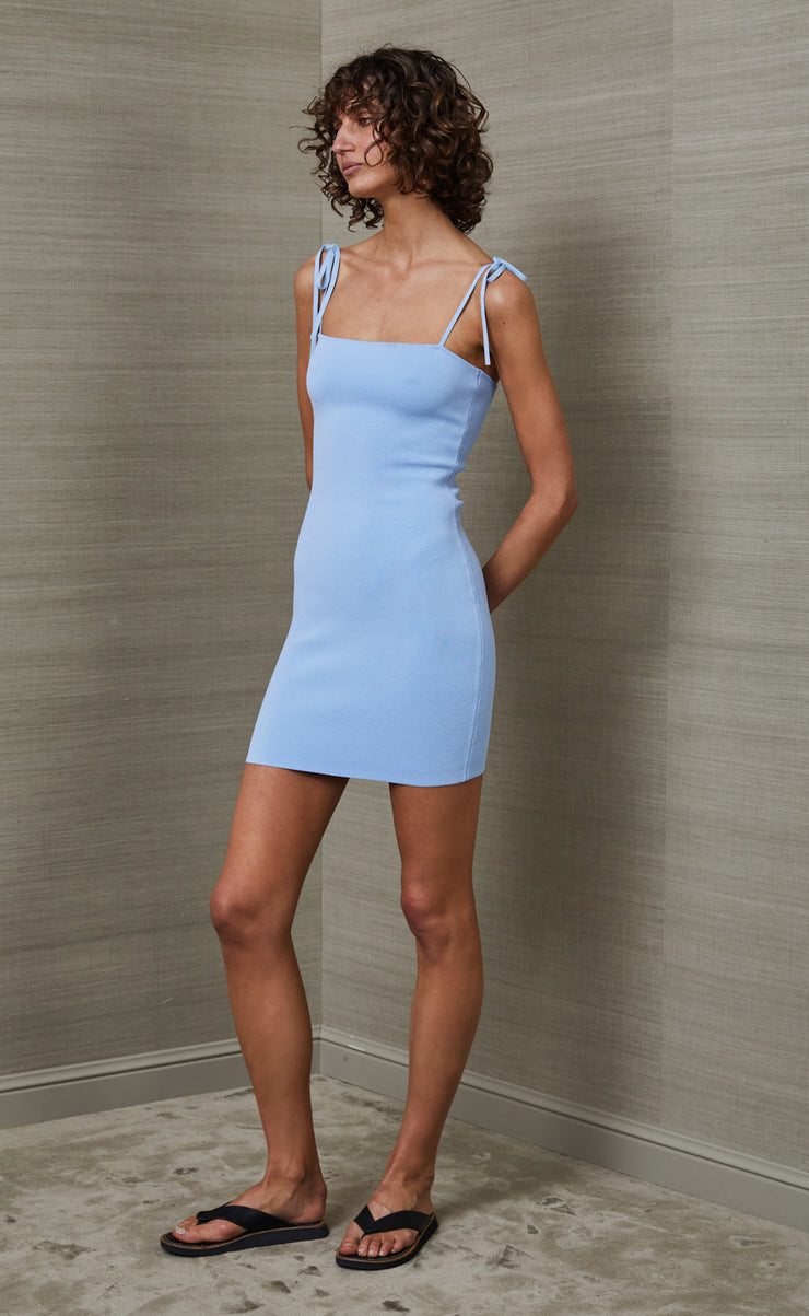 ROSALIE MINI DRESS - SKY BLUE