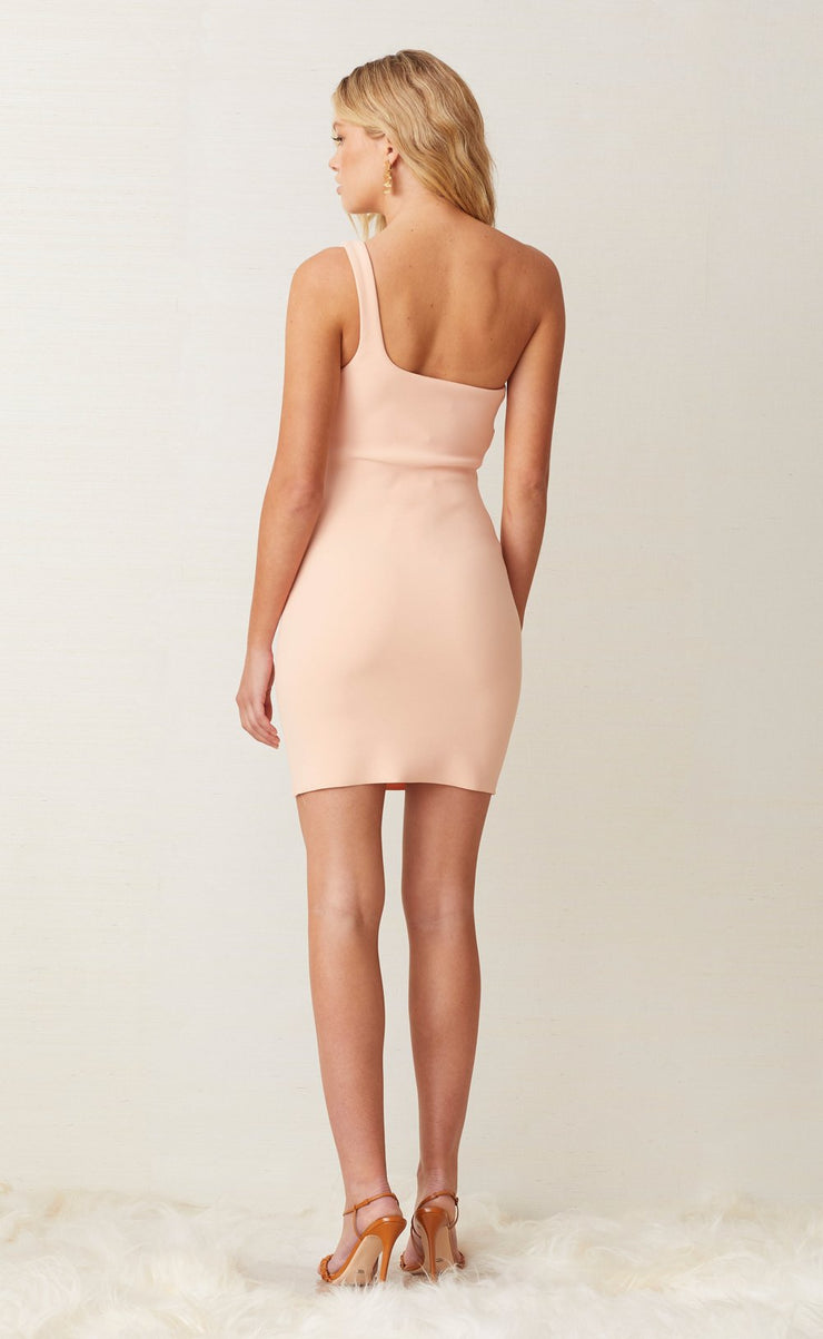 RUBY MINI DRESS - PEACH
