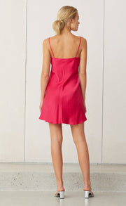 CLASSIC MINI DRESS - HOT PINK