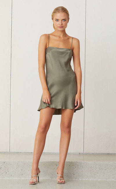 CLASSIC MINI DRESS - KHAKI