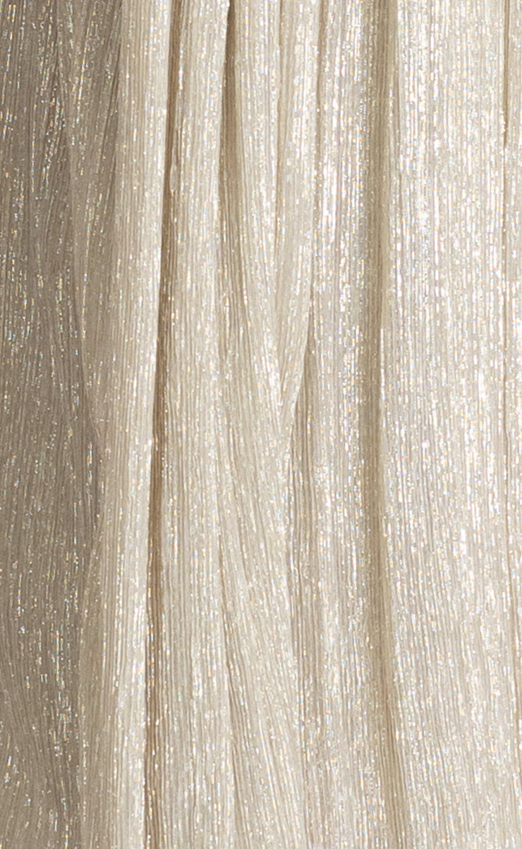 LADY SPARKLE STRAPLESS DRESS - GOLD