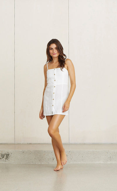 KELLY MINI DRESS - WHITE