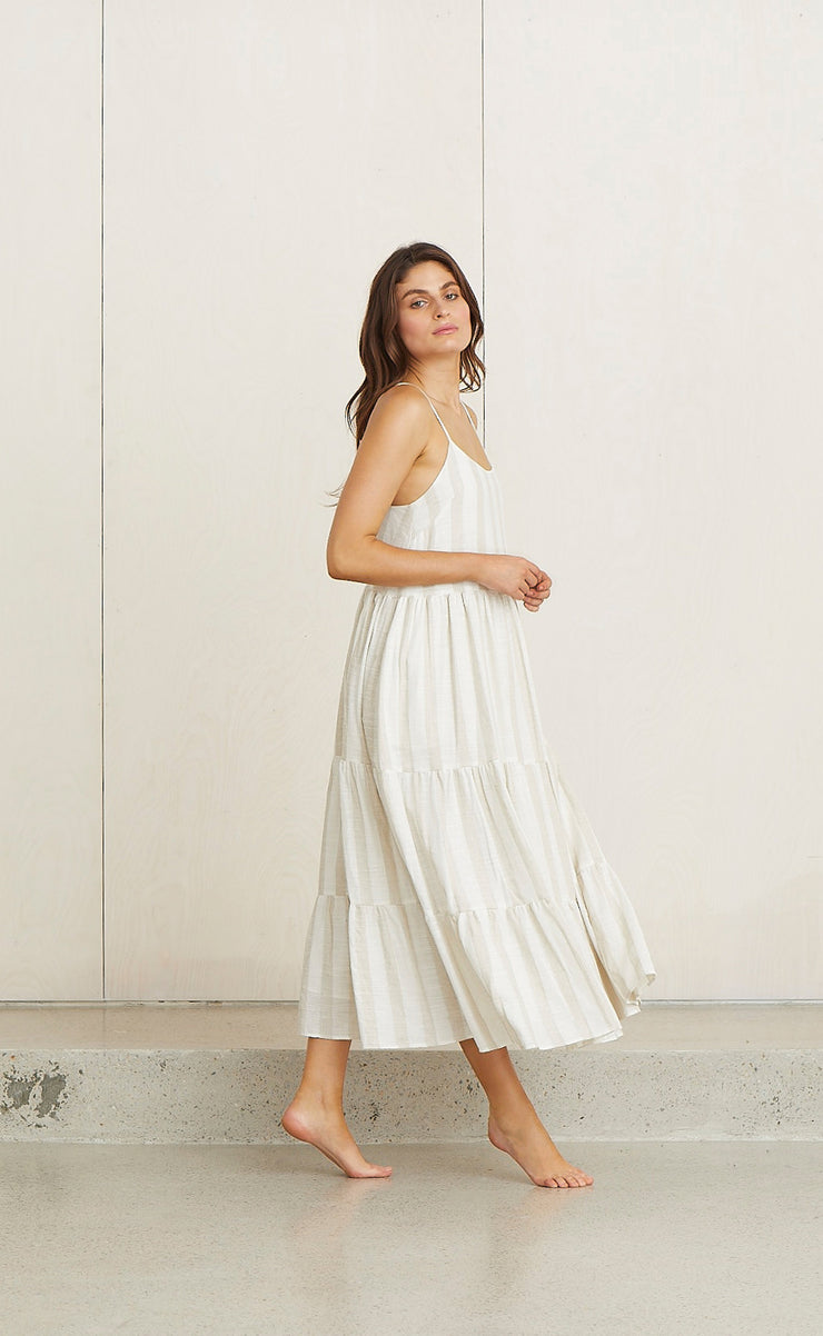 JESSIE'S GIRL DRESS - NATURAL STRIPE