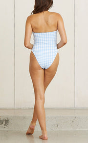 MATERIAL GIRL ONE PIECE - BLUE CHECK