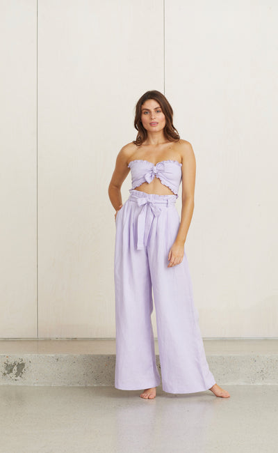 TROPICAL FEVER PANT - LILAC