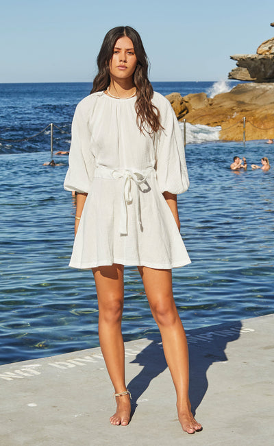 HAKU MINI DRESS - IVORY