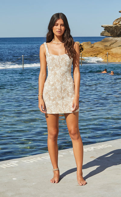KAHUNA MINI DRESS - TAUPE