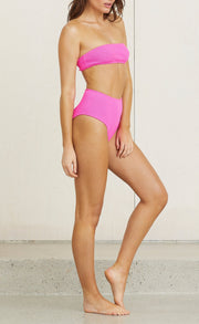 I WANT YOUR LOVE BANDEAU - FLURO FUCHSIA