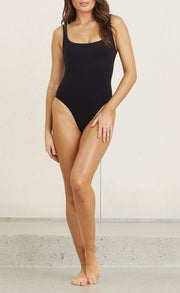 VELVET TEDDY ONE PIECE - BLACK