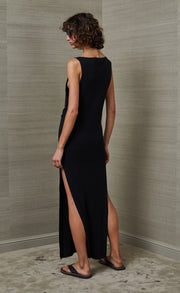 WILD SIDE MIDI DRESS - BLACK