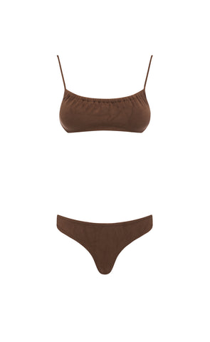 FARRAH TOP - CHOCOLATE