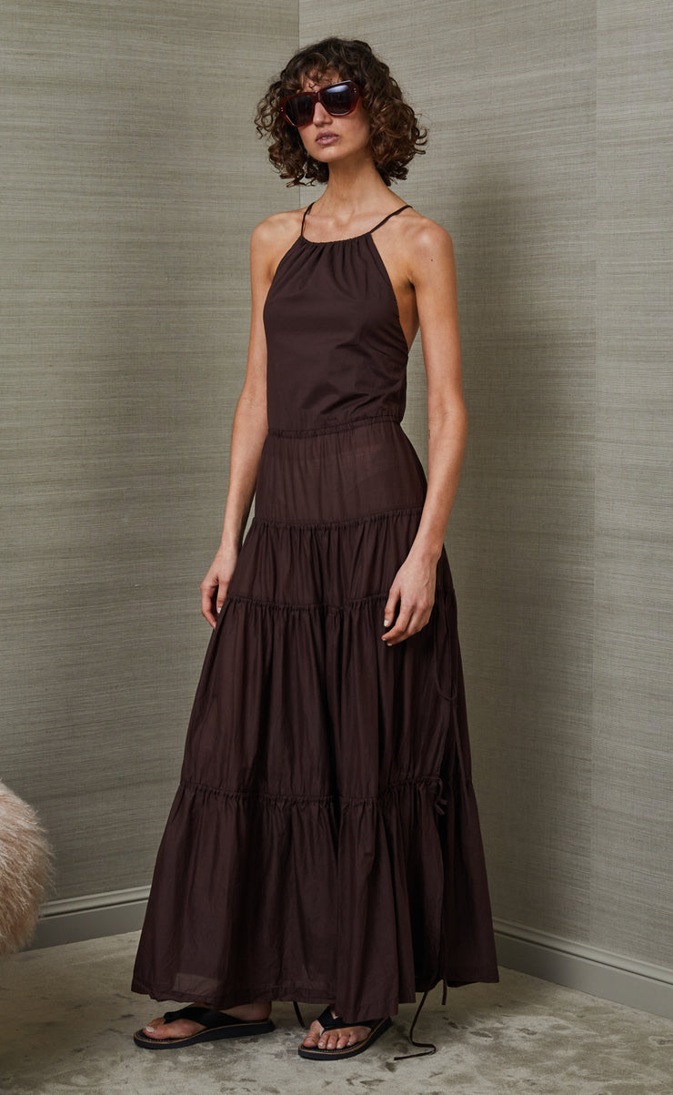 CARMEN MAXI DRESS - CHOCOLATE