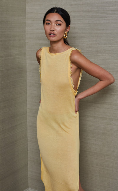 SUSANNAH MIDI DRESS - HONEY