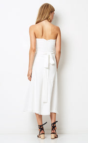 CATALINA AVE MIDI DRESS - IVORY
