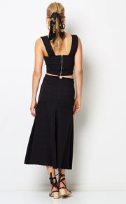 CATALINA AVE SKIRT  - BLACK
