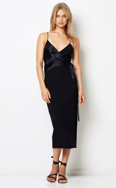 NATALIA WRAP DRESS - BLACK