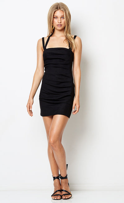 SOUTH BEACH MINI DRESS - BLACK