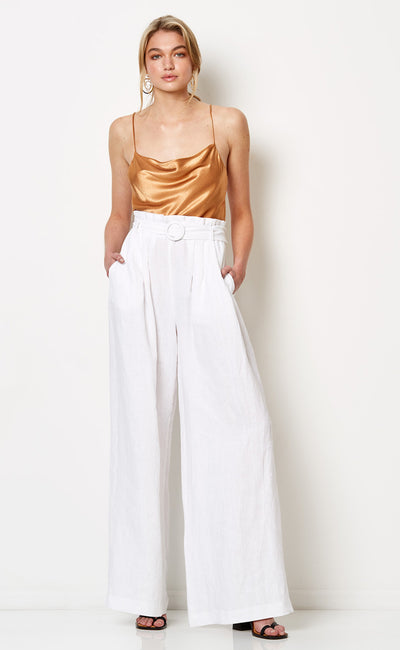 SILVER PALMS PANTS - WHITE