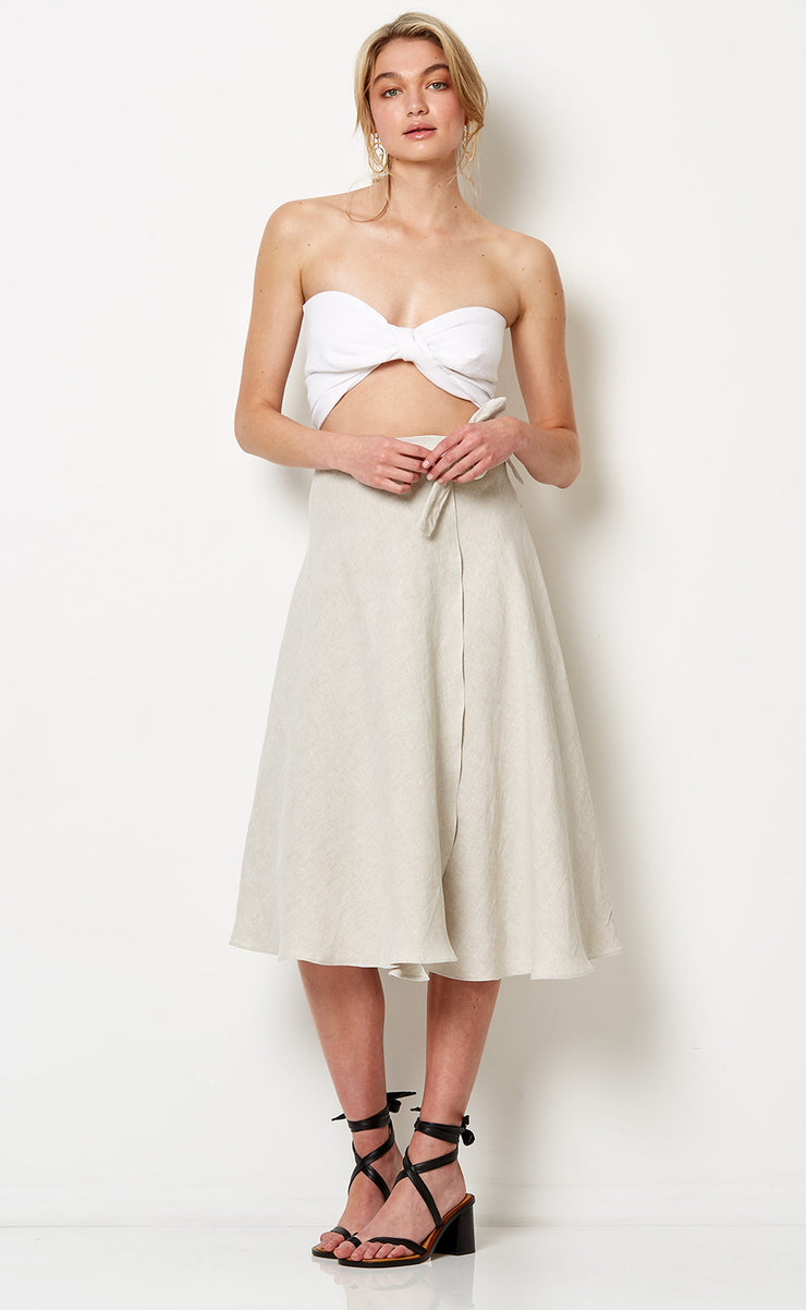 SILVER PALMS SKIRT - NATURAL