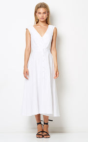 HAVANA NIGHTS MIDI DRESS - WHITE