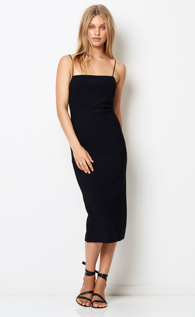 LILA MIDI DRESS - BLACK