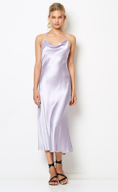 DISCO DANCER MIDI DRESS - LILAC